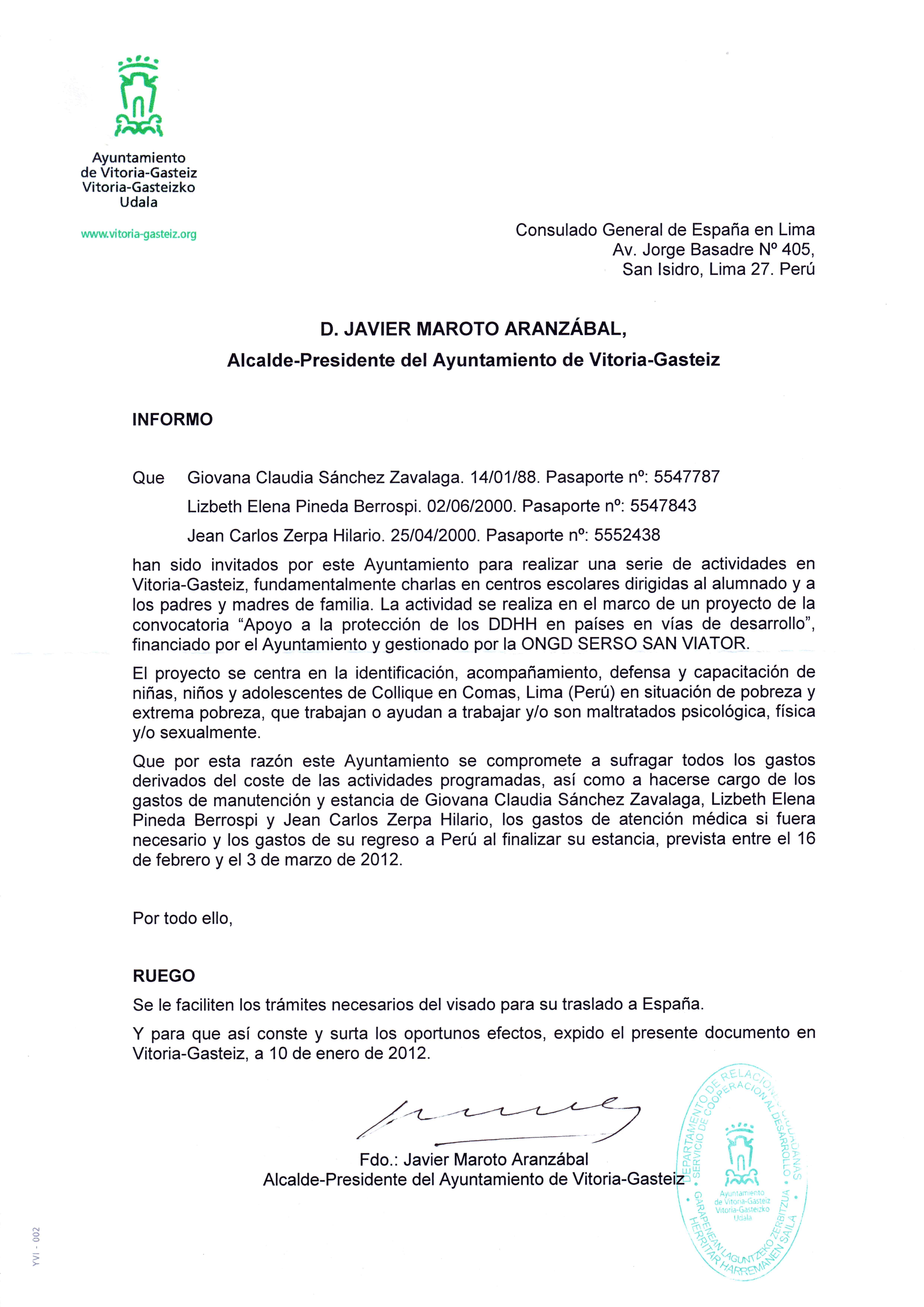 Ejemplo carta de invitacion para visa newhairstylesformen2014 com