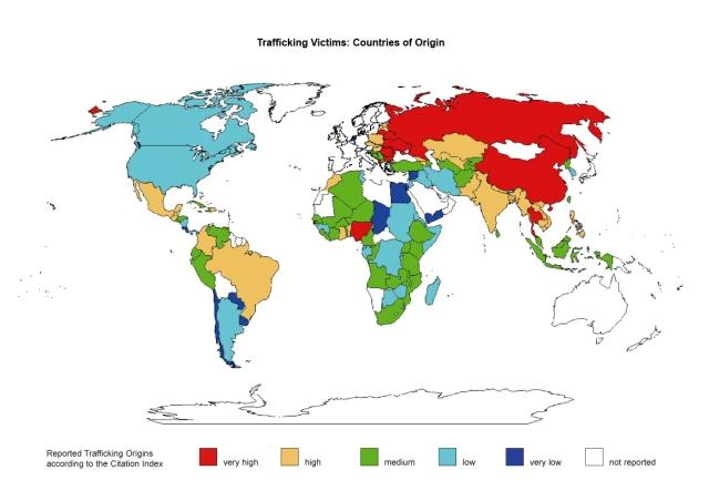países de origen de la trata de personas
