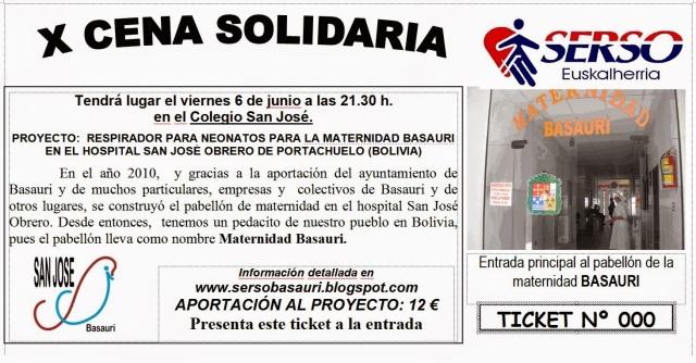 Cena Solidaridad SERSO San Viator_Basauri