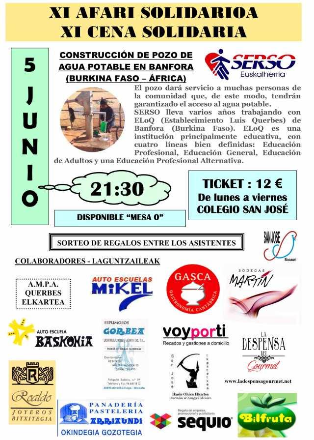 Cena de Solidaridad SERSO San Viator Basauri
